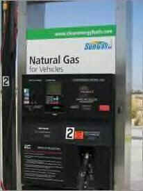 Photo of a natural gas fuel pump.